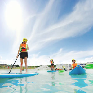 Vector Wero Children Kayaking And Paddleboarding Thumb